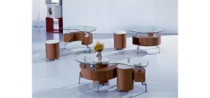 """C200 - Contemporary """"S"""" shape coffee table"""