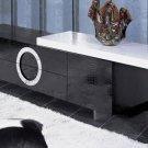Armani Xavira Modern Lacquer TV Stand Black