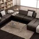 6103 - Modern Bonded Leather Sectional Sofa