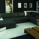 2314 - Modern Bonded Leather Sectional Sofa