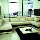 1101 - Modern Bonded Leather Sectional Sofa
