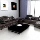 5005 - Modern Bonded Leather Sectional Sofa