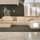 1004 - Modern Bonded Leather Sectional Sofa