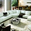 2617 - Modern Bonded Leather Sectional Sofa