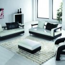 5577 - Modern Bonded Leather Sectional Sofa Set