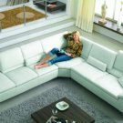 2914 - Modern Bonded Leather Sectional Sofa