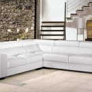 2280 - Modern Bonded Leather Sectional Sofa