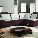 2234 - Modern Bonded Leather Sectional Sofa