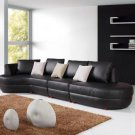 2818 - Modern Bonded Leather Sectional Sofa