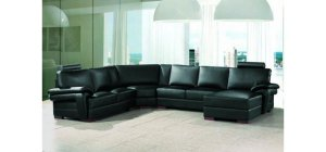 2253 - Modern Bonded Leather Sectional Sofa