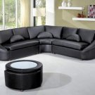 2224 - Modern Bonded Leather Sectional Sofa