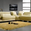 3331 - Modern Bonded Leather Sectional Sofa