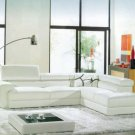 8008A - Modern Bonded Leather Sectional Sofa
