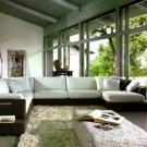 2616 - Modern Bonded Leather Sectional Sofa