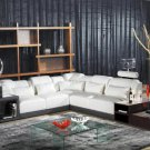 1008 - Modern Bonded Leather Sectional Sofa