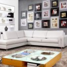 529 - Modern Bonded Leather Sectional Sofa