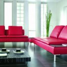 2913 - Modern Bonded Leather Sectional Sofa