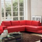 2226 - Modern Bonded Leather Sectional Sofa