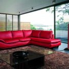 2917 - Modern Bonded Leather Sectional Sofa