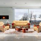 2034 - Modern Bonded Leather Sofa Set  Click to enlarge