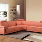 2239 - Modern Bonded Leather Sectional Sofa