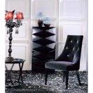 AA031 Black Velour Dining Chair - Armani Xavira Collection