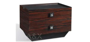 Ebony Lacquered Finish Nightstand