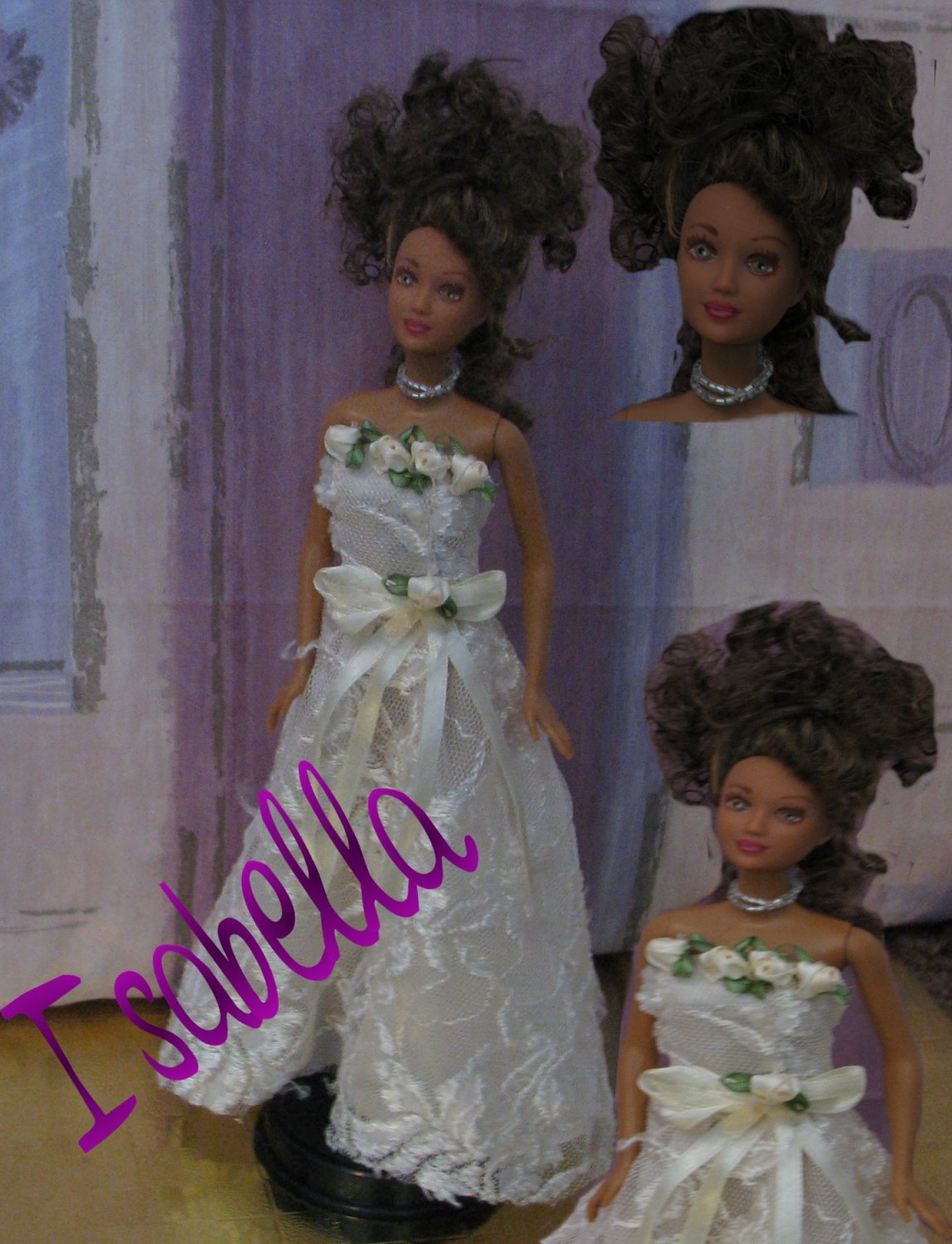 Isabella-OOAK wedding fashion doll formerly known as Kayla Barbie