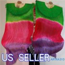 PAIRS 1.8M BELLY DANCE THREE COLORS 100%SILK FAN VEILS