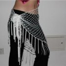 HAND MADE WHITE BELLY DANCE HIP MESH SCARVES