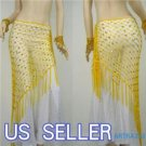 HAND MADE YELLOW BELLY DANCE HIP MESH SCARVES