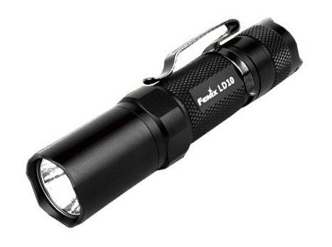 Fenix Ld10 Led Flashlight Torch Black Textured 94 Lumens