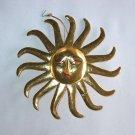 Medium Gold Spiral Sun