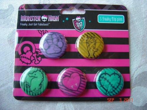 Monster High 5 Freaky Flip Pins