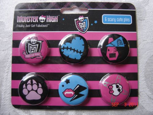 Monster High 6 Scary Cute Pins