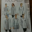 McCall's 2583 Misses' Shirts Size D 12-14-16