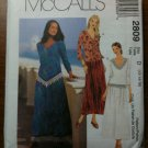 McCall's 2809 Misses'/Miss Petite Two-Piece Dress Size FW 18-20-22