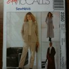 McCall's 2350 Misses' Jacket, Pants, Skirt and Dress - For Stretch Knits ONLY Size M 12-14