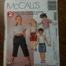 McCall's 2599 Children's Top and Pull-on Pants or Shorts Size CD 2-3-4