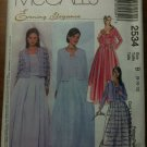 McCall's 2534 Misses' Unlined Jacket, Top in Two Lengths and Skirt Size B 8-10-12