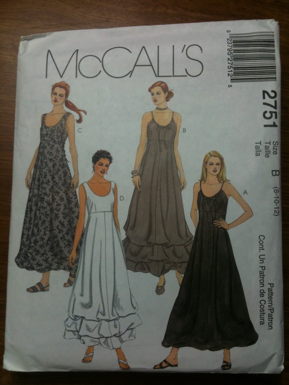 McCall's 2751 Misses'/Miss Petite Lined Dress Size B 8-10-12