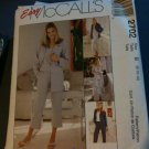 McCall's 2702 Misses'/Miss Petite Shirt-Jacket, Dress or Top and Pants in Two Lengths Size B