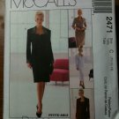 McCall's 2471 Misses' Lined Dress or Jacket and Skirt in Two Lengths Size D 12-14-16