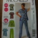 NEW McCall's 6473 Misses' and Women's Tops and Pants Size RR