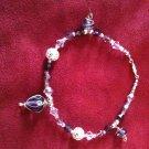 Purple Silver Swarovski Crystal Bracelet