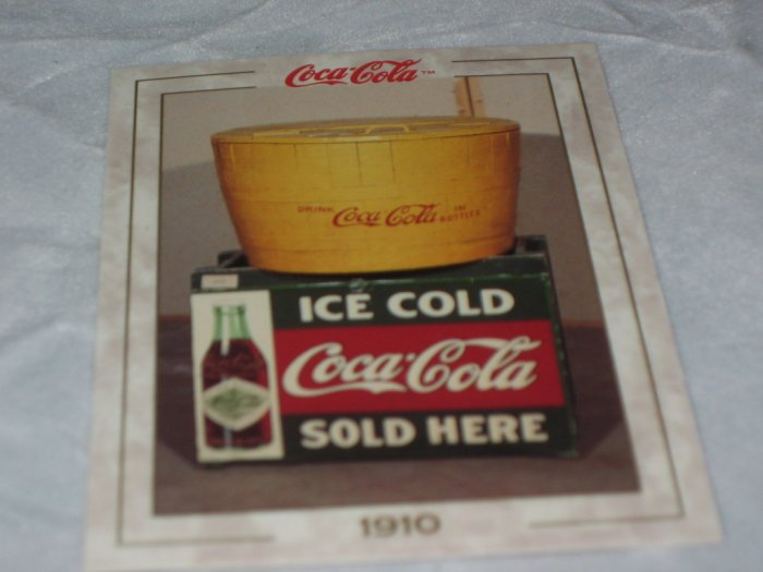 Tub of Ice Cold Coca Cola Vintage Trading Card #15