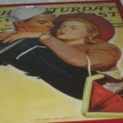 Vintage Saturday Evening Post Red Metal Frame Ephemera