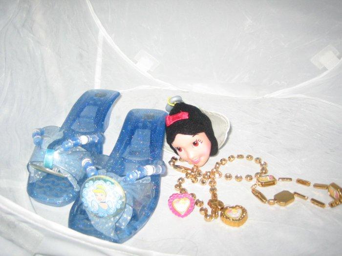 Disney Princess Cinderella Shoes Ring Necklace Dress Up