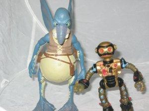 1990 TMNT Fujitoid Teenage Mutant Ninja Turtles Star Wars Watto Lot