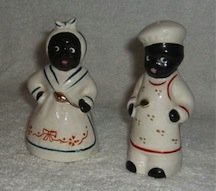 Vintage African American salt and pepper shakers